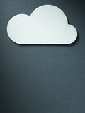 Cloud on the paper background Royalty Free Stock Photography