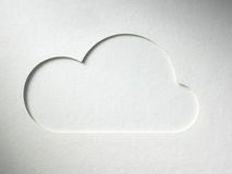Cloud on the paper background Stock Photos