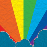 Cloud paper craft and rainbow Stock Photos