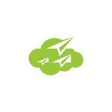 Cloud paper plane icon vector logo Stock Photography