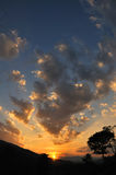 Cloud paradise. Sunset at the valley of heaven Stock Photos