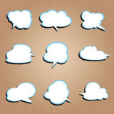 Cloud pattern. Promotional tag cloud pattern pattern Stock Image