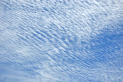 Cloud pattern on blue sky Royalty Free Stock Photos