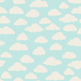 Cloud pattern. Cloudy sky seamless backround Stock Image