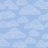 Cloud pattern. Cloudy sky seamless backround Royalty Free Stock Photos