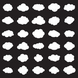 Cloud icons set Stock Photography