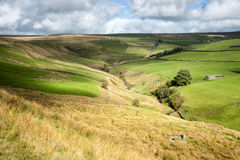 Cloud patterns on dales valley Royalty Free Stock Photography