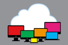 Cloud with PC Royalty Free Stock Photography