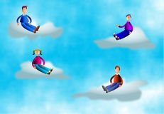 Cloud People Royalty Free Stock Photos