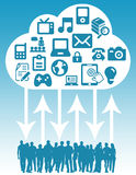 Cloud people Royalty Free Stock Photo