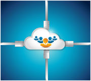 Cloud people connection illustration design Royalty Free Stock Images