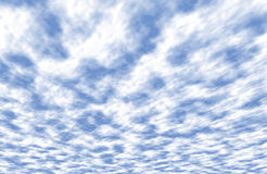 Cloud Perspective. Realistic high resolution clouds with perspective created in Photoshop. I've used this many times to replace blown out skies in photographs Royalty Free Stock Photo