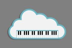 Cloud Piano Keys Stock Photography