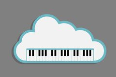 Cloud Piano keys Stock Photography