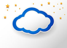 Cloud with a place for message Stock Images
