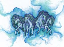 Cloud Ponies Stock Photo