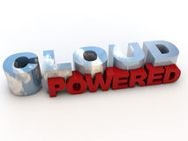 Cloud Powered Stock Image