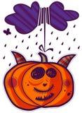 Cloud and pumpkin Stock Photo