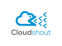 Cloud punk logo (sign, illustration, icon) Stock Photography