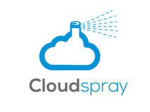 Cloud punk logo (sign, illustration, icon) Stock Image