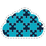 Cloud puzzle solution image Stock Image
