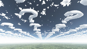 Cloud question marks Royalty Free Stock Images
