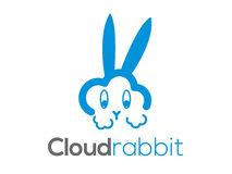 Cloud rabbit vector logo (sign, icon, illustration) Royalty Free Stock Photo