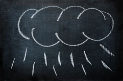 Cloud with rain Stock Image