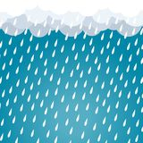 Cloud rain background blue vector. N Stock Image