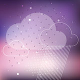 Cloud rain background Royalty Free Stock Photos