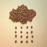 Cloud and rain from coffee beans Stock Photos