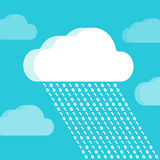 Cloud and rain consisting of numbers Royalty Free Stock Image