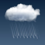Cloud with rain drops Royalty Free Stock Images