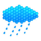 Cloud and rain drops on a white background Stock Photo