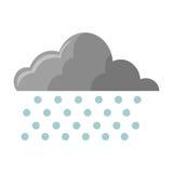 Cloud with rain icon Stock Photos
