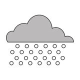 Cloud with rain icon Stock Images