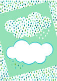 Cloud Rain invitation card Royalty Free Stock Images