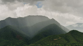 Cloud and rain on mountain Stock Image