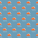Cloud And Rain Pattern Royalty Free Stock Images