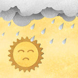 Cloud and rain with poor sun Royalty Free Stock Photo