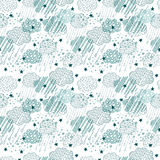 Cloud and rain seamless pattern Royalty Free Stock Images