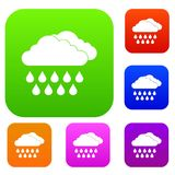 Cloud and rain set collection Royalty Free Stock Image