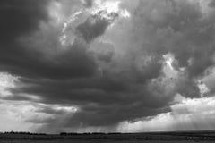 Cloud rain. Summer landscape sky with rain clouds in the sun Royalty Free Stock Photos