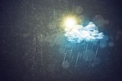 Cloud with rain and sun. Abstract background Stock Photos