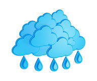 Cloud and rain - weather forecast symbol Royalty Free Stock Photo