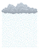 Cloud with rain. On a white background Royalty Free Stock Photography