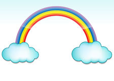 Cloud and rainbow Stock Photography