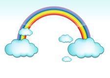 Cloud and rainbow vector illustration