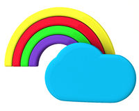 Cloud and rainbow Stock Photo
