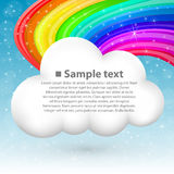 Cloud with rainbow Royalty Free Stock Image